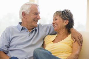 image of happy elderly couple