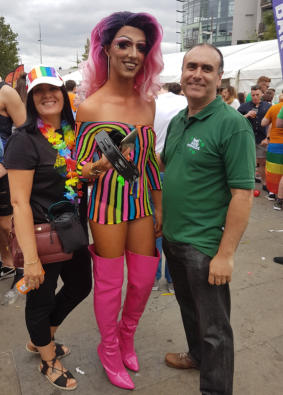 image of Turan and Jacqueline Mirza at Belfast PRIDE